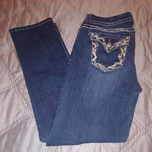 Miss me dark wash easy crop jeans size 29 in
